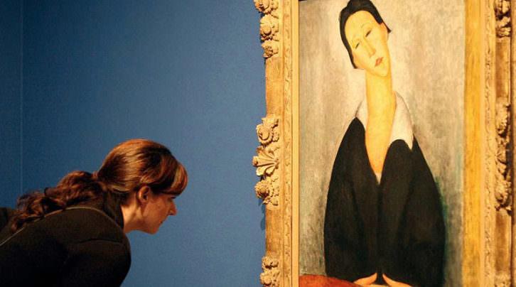 Exposición de los falsos Modigliani en Génova. Imagen extraída de la web de rtve.