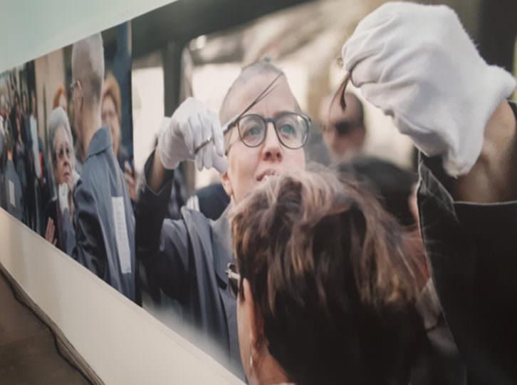 Montaje fotográfico de la exposición de Art al Quadrat en el MuVIM.