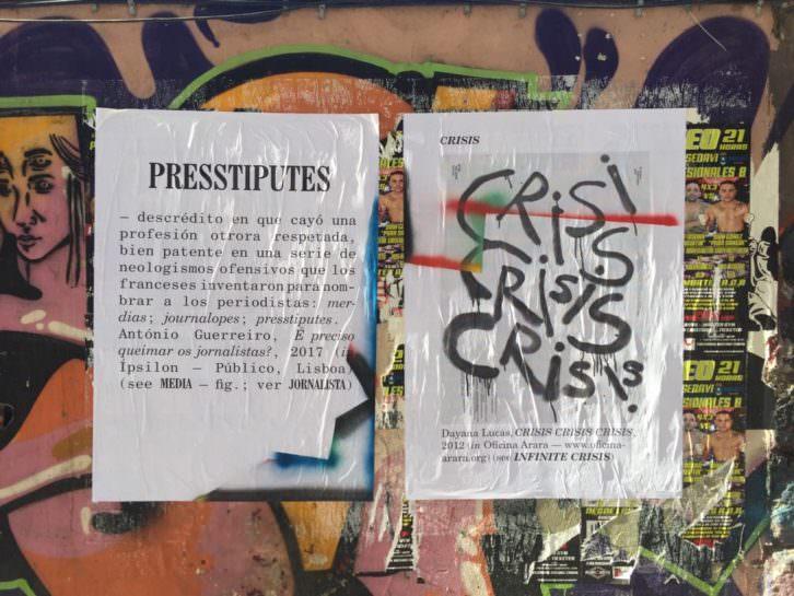 Sara e André, carteles repartidos por la ciudad. Imagen cortesía del Centre del Carme.