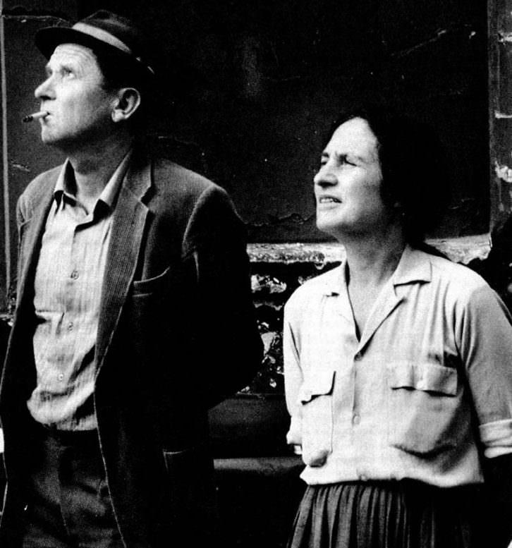 Jean-Marie Straub y Danièle Huillet. Imagen cortesía de Filmoteca de Valencia.
