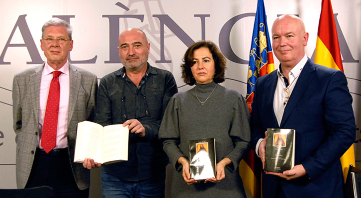 De izda a dcha, Robert Archer, Xavier Rius, Josune García y Vicent Martines. Fotografía de M. Pazos por cortesía de la Diputación de Valencia.