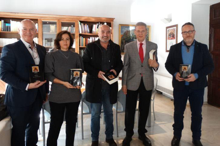 De izda a dcha, Vicente Martines, Josune García, Xavi Rius, Robert Archer, Vicent. Imagen cortesía de la Diputación de Valencia.