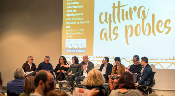Representantes de la Diputación de Valencia en la reunión del MuVIM. Imagen cortesía de Diputación.