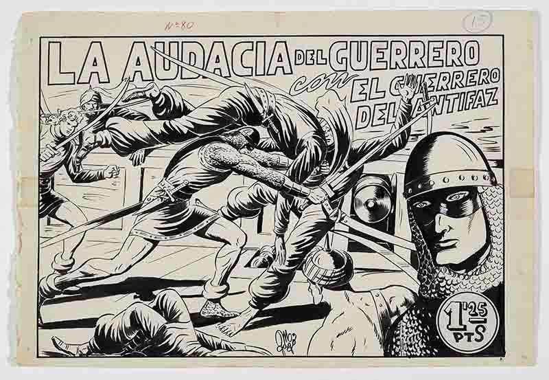 El Guerrero del Antifaz. Imagen cortesía del MuVIM.