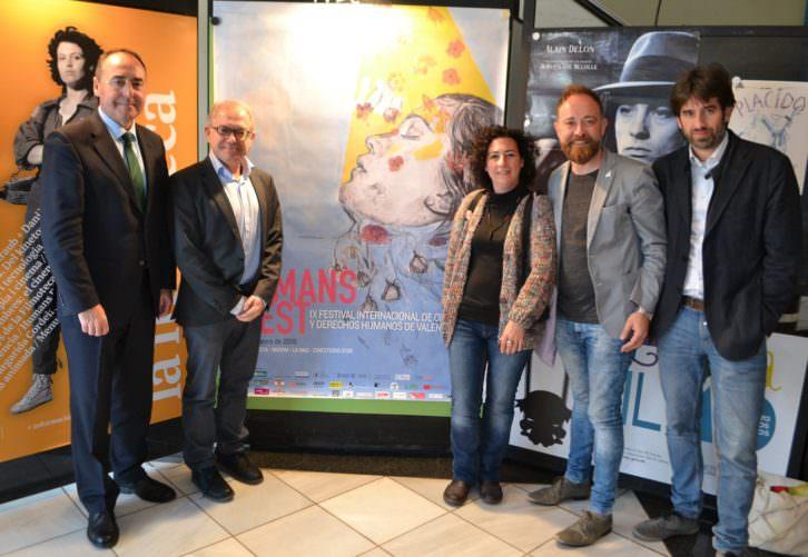De izda a dcha, José María Company, Abel Guarinos, Enma, Javier Vilalta y José Luis Moreno. Imagen cortesía del Institut Valencià de Cultura.