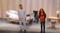 Escena de la obra 'Prefiero que seamos amigos', en el Teatro Talía. Fotografía: Lorena Riestra.