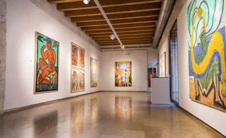 Vista de la exposición de José Morea en El Castell de Riba-roja de Túria. Fotografía de Rocío Sierra por cortesía del E CA.