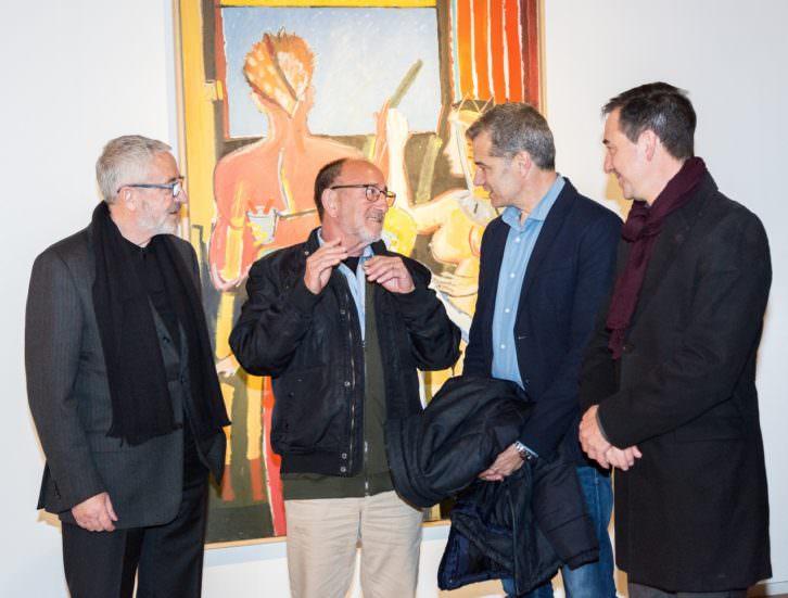 José Morea, en el centro, con Francisco Caparrós (izda), Toni Cantó y Robert Raga. Fotografía de Rocío Sierra por cortesía del E CA.