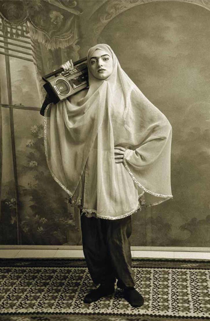 Qajar (1988), de Shadi Ghadirian. Imagen cortesía del Centre del Carme.