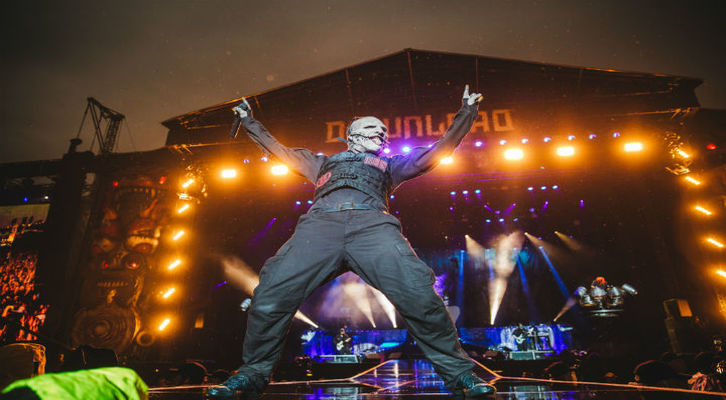 Slipknot Live at Download Festival in 2015.