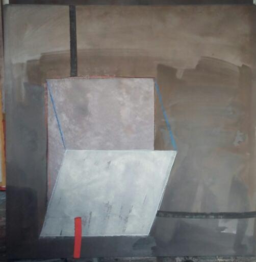Imagen de una de las obras de la artista Felicia Puerta, presente en la exposición 'Gráfica Estructural'. Fotografía cortesía de los organizadores.