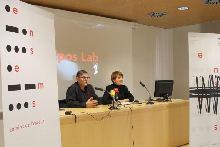 Voro García y Marga Landete durante la presentación del Festival Ensems. Imagen cortesía de la organización.
