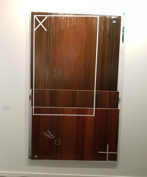 «Sin Título». Rubén Guerrero, 2017. Óleo y esmalte sobre lienzo. 239 x 132 cm