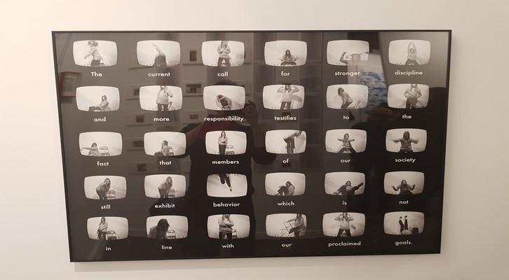 «The Sentence». Sanja Ivekovic, 1979. Impresión montada sobre aluminio. 81 x 100 cm