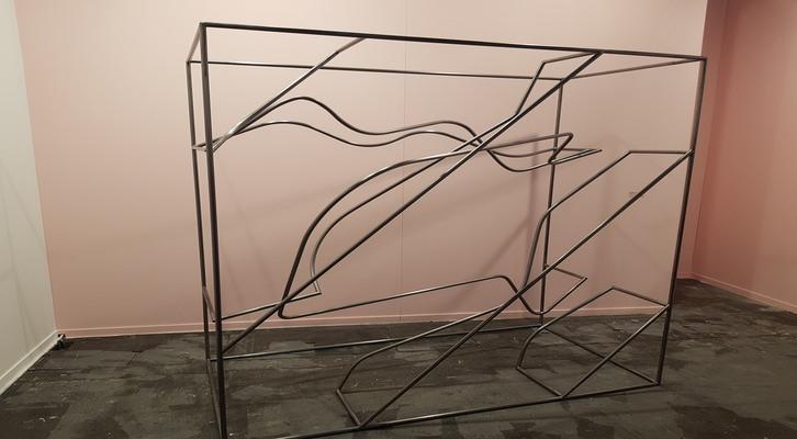 «Sleepwalker Chronobiology». Amanda Moreno, 2017. Hierro. 210 x 210 x 105 cm.