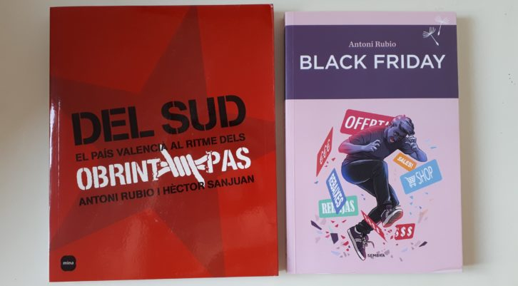 """Exemplars de """"Del Sud"""" i """"Black Friday"""". Fotografia corstesia de l'autor"""