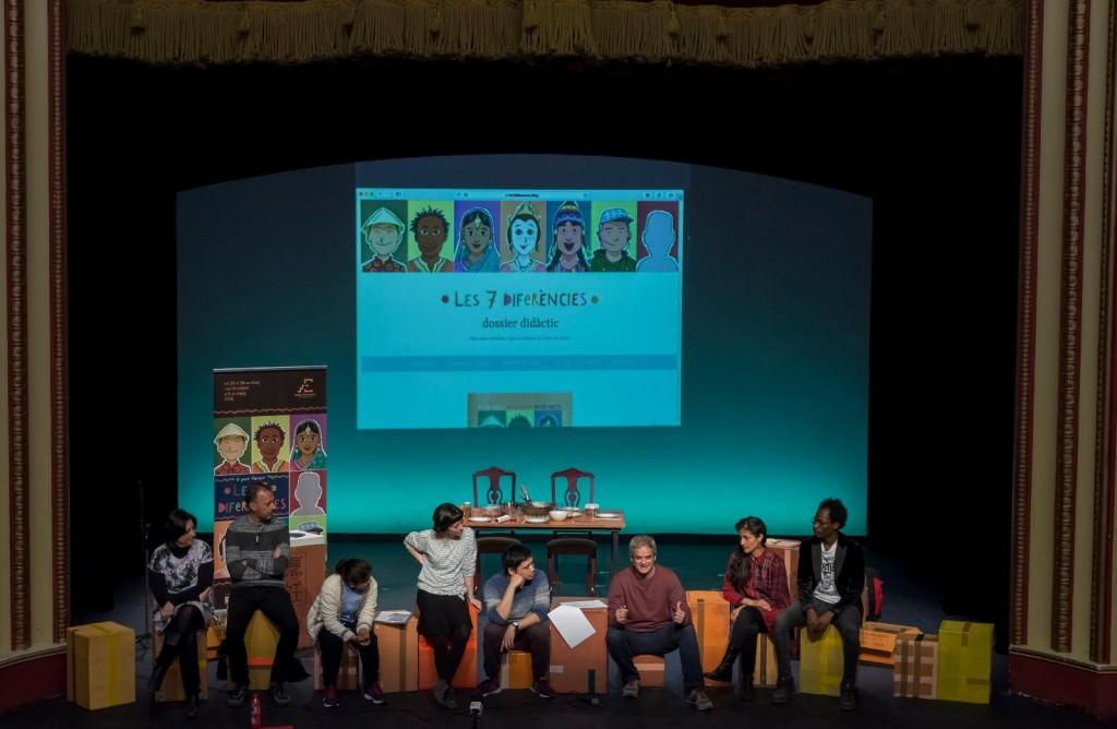 Presentación de 'Les set diferències' en el Teatre Talia. Imagen cortesía de Teatre Escalante.