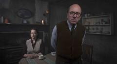 Ethel (Samantha Morton) y John Crhistie (Tim Roth) durante una secuencia de 'Rillington Place'. Fotografía cortesía de Filmin.
