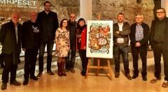 Representantes institucionales e ilustradores en la presentación de Splash Sagunt en el Rector Peset.