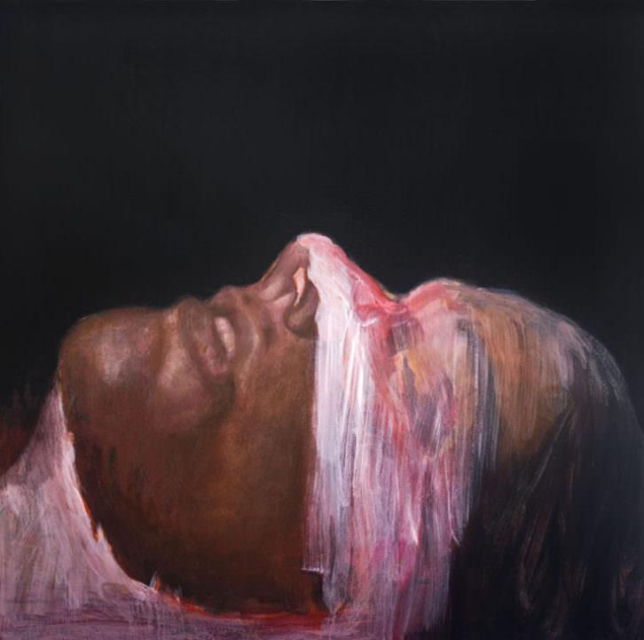 Imagen de la obra 'Máscara', de Louisa Holecz, presente en la exposición 'Out of Body'. Fotografía cortesía de La Casa Amarilla.