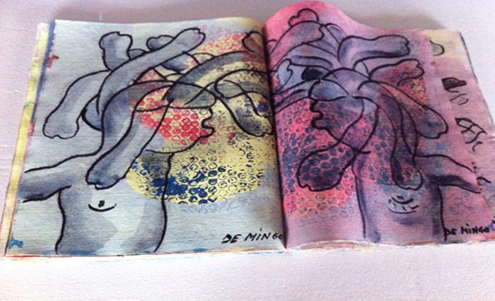 Imagen: Cortesía de la comisaria Gema Navarro Goig. Detalle de MEDUSA, libro artista de Rufino de mingo