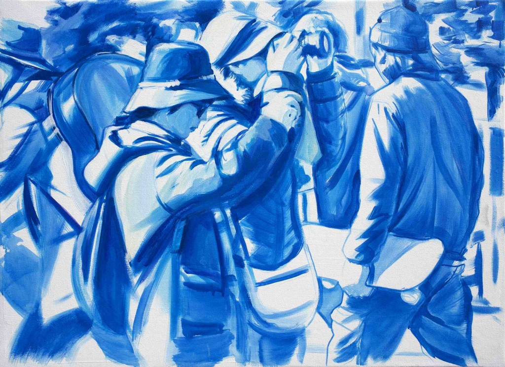 Imagen de la obra de Luis Lonjedo, presente en la exposición 'MIXED'. Fotografía cortesía de Galería 9.