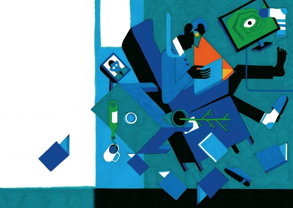 Azul intenso, de Daniel Montero. Imagen cortesía de Estudio 64.