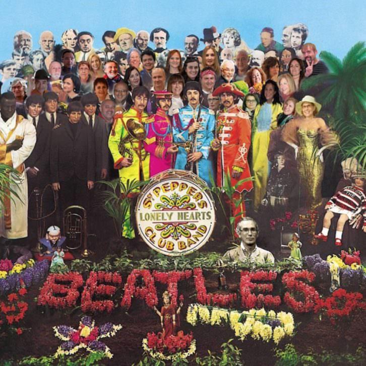 Portada de Sergeant Pepper's de The Beatles. Imagen cortesía de Valencia With The Beatles.