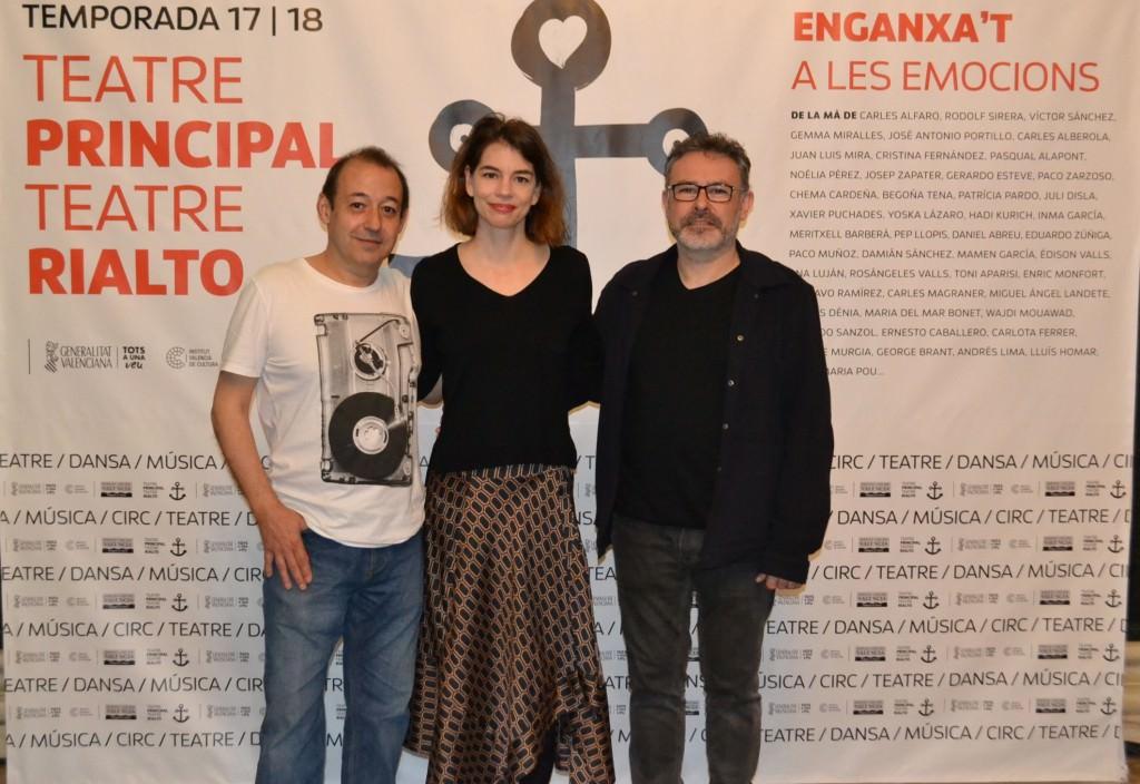 Sigfrid Monleón, Isabelle Stofel y Roberto García. Imagen cortesía del IVC.