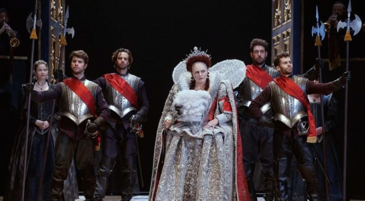 Imagen de un instante de la representación de 'Gloriana', de Benjamin Britten. Fotografía de Javier del Real, cortesía del Teatro Real.