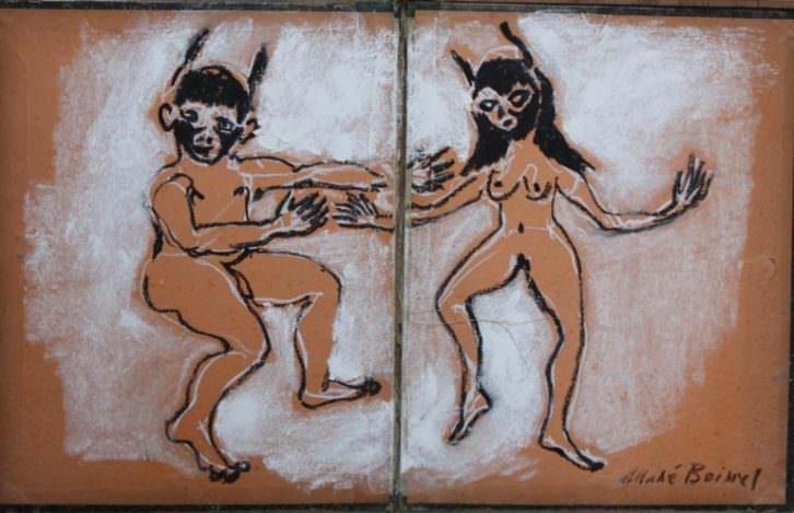 Imagen de una de las obras que forman parte de 'Apocalipsis', Mahé Boissel. Fotografía cortesía de La Neomudéjar.