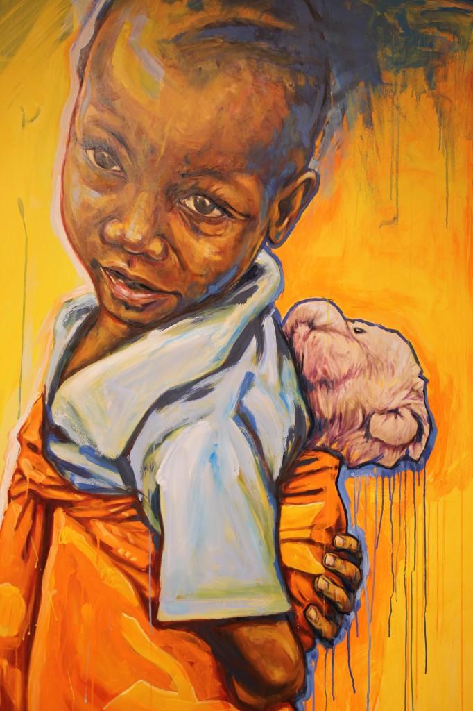 Zaji (aquella que es pequeña). Acrílico y óleo sobre tabla, 155 x 127 cm. Fotografía de Lucía Cajo Ferrando