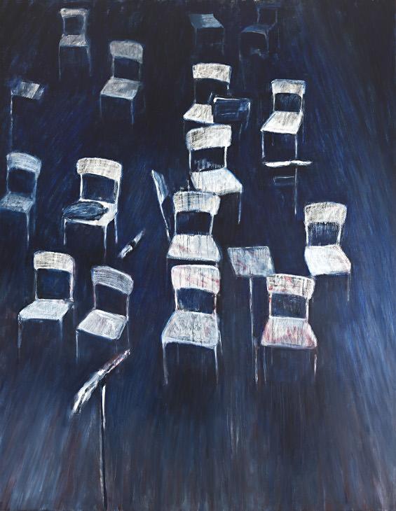 Imagen de la obra 'Interval –for Jacqueline du Pré–', de Louisa Holecz, presente en la exposición 'Out of body'. Fotografía cortesía de La Casa Amarilla.