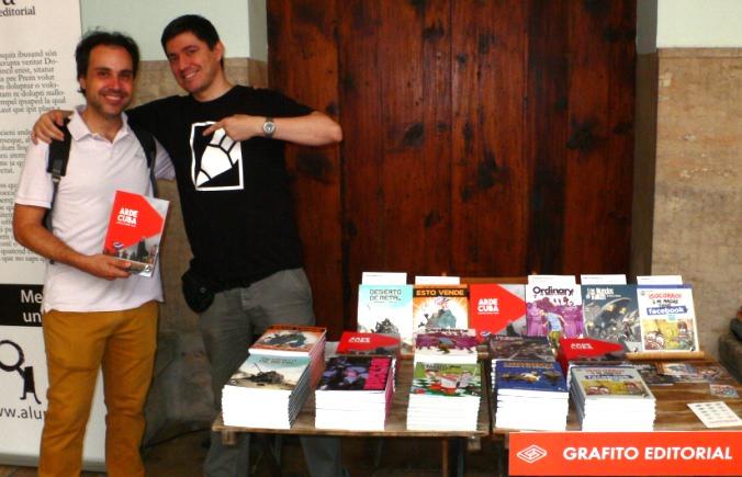 Algunos de los Stands del festival del libro Sindokma 2017. Grafito Editorial. Fotografía de archivo, Vicente Chambó.