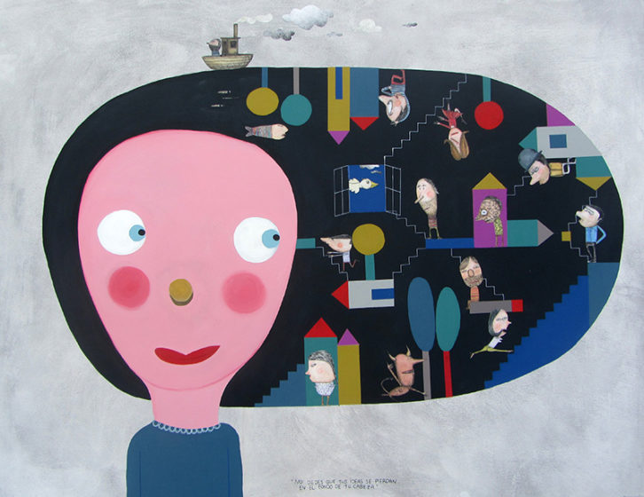 No dejes que tus ideas se pierdan en el fondo de tu cabeza, de Moisés Yagües. Imagen cortesía de Alba Cabrera.