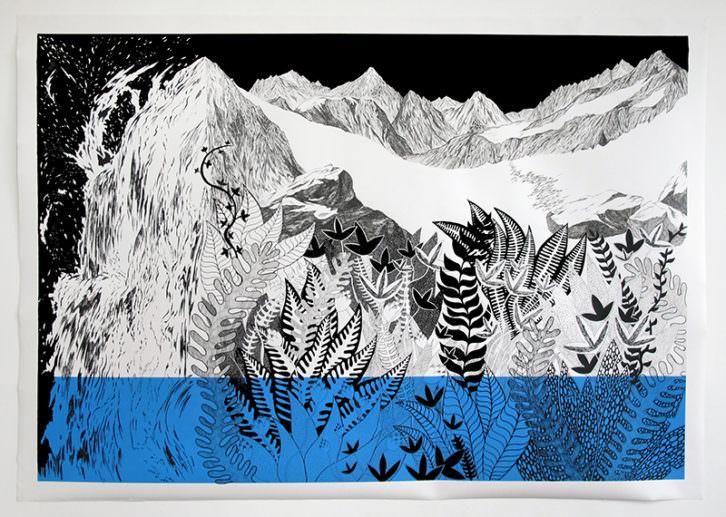 Obra de Françoise Vanneraud. Imagen cortesía de Galería Ana Serratosa.