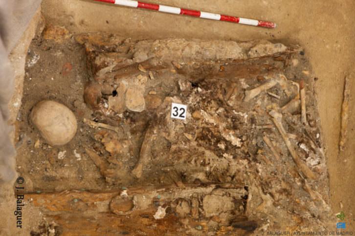 Reducción ósea en la que se localizaron los restos de Cervantes. Fotografía de J. Balaguer, cortesía de la organización.