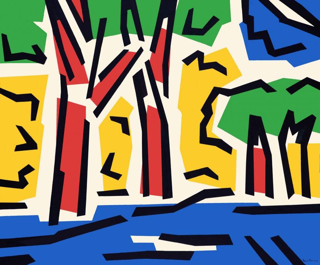 Imagen de la obra 'Composición con árboles VII'', de Rosa Torres. Fotografía cortesía de Shiras Galería.