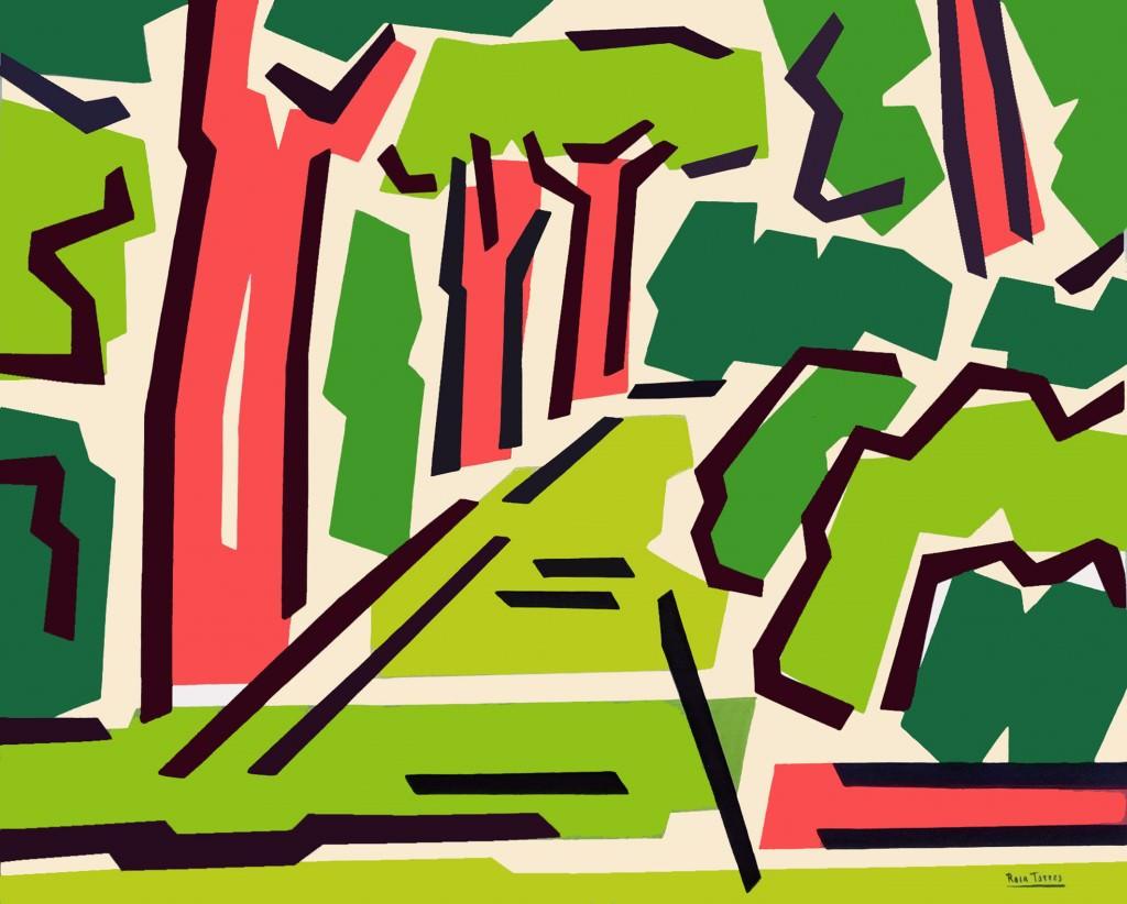 Imagen de la obra 'Serie Botánico III', de Rosa Torres. Fotografía cortesía de Shiras Galería.