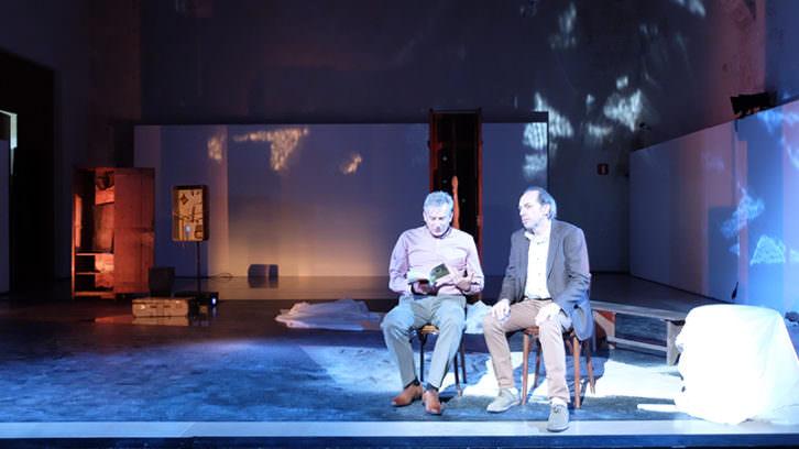 Juanjo Prats y Enric Juezas en 'Territorio Chirbes'. Imagen cortesía del autor.