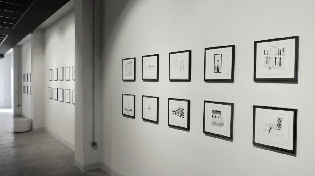 Vista de la exposición 'Cats are paradoxes', de Pablo amargo en la galería Pepita Lumier. Foto: Javier Martínez.