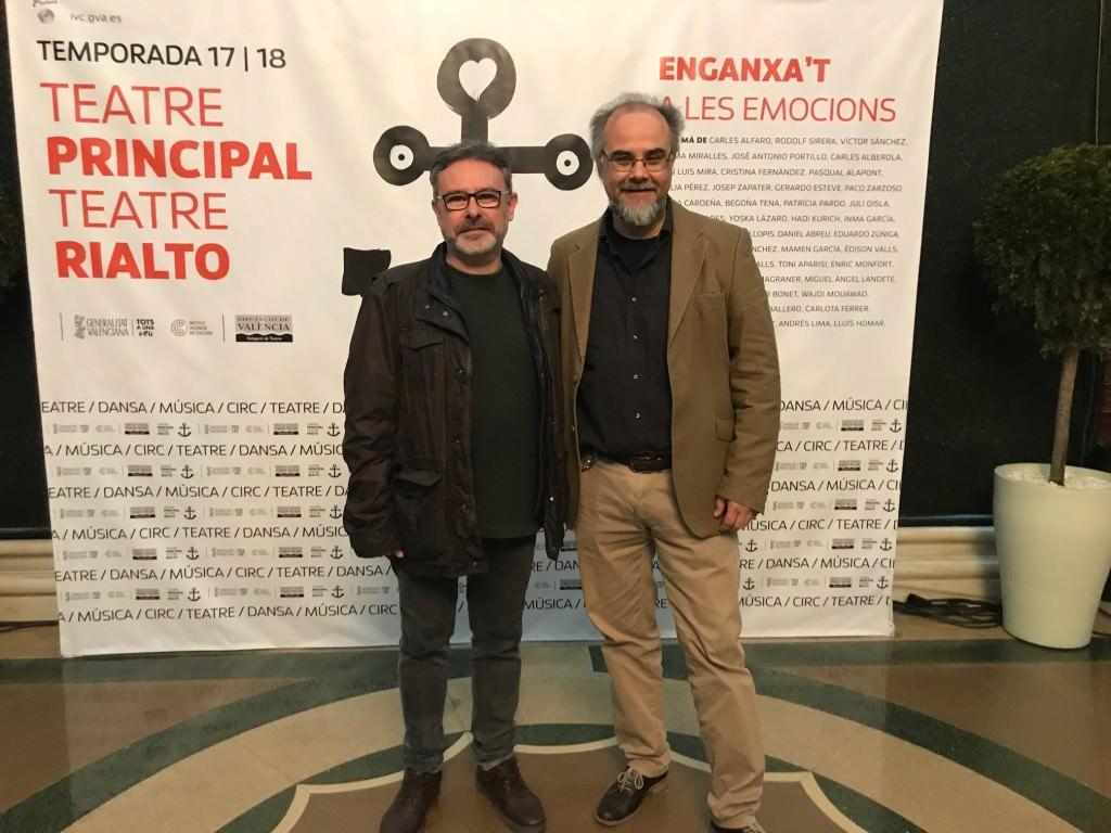 Hadi Kurick (dcha) junto a Roberto García. Imagen cortesía de Teatres.