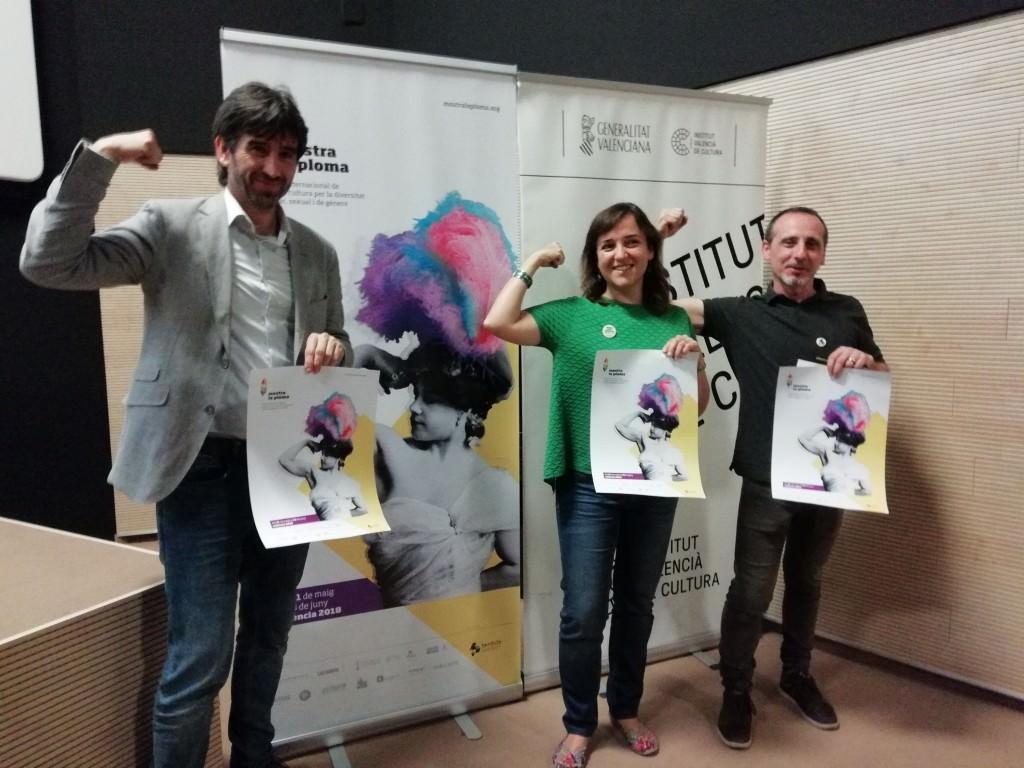 De izquierda a derecha, José Luis Moreno, Isabel Lozano y Pablo Noguerol. Imagen cortesía de Lambda.