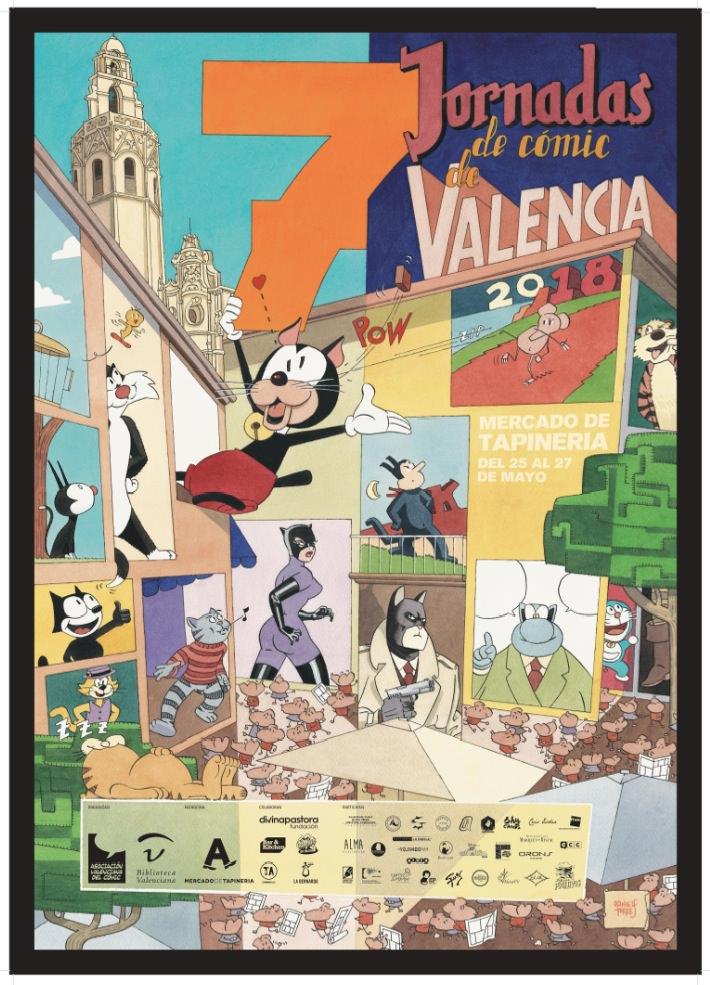 Cartel de las VII Jornadas del Cómic del Mercado de Tapinería.