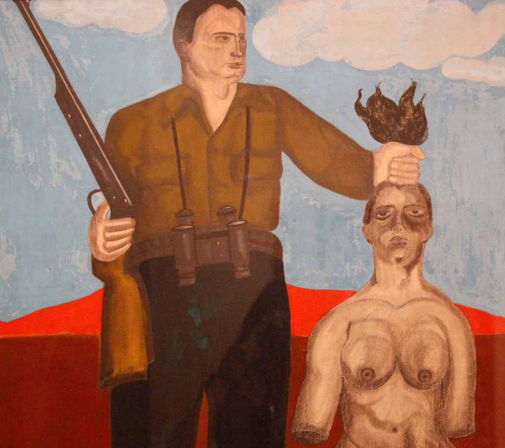 Carmen Calvo. Sin título, 1969. Técnica mixta y gouache sobre tabla, 90 x 65 cm. Fotografía de Lucía Cajo Ferrando.