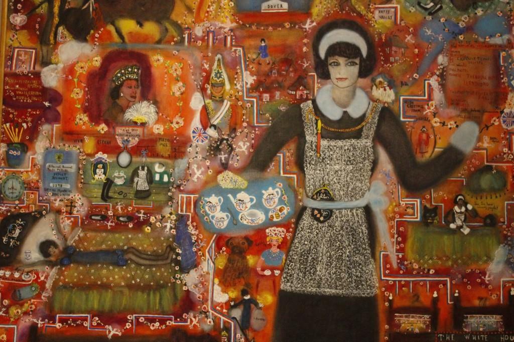 Dolores Casanova. Historia de Inglaterra. Óleo sobre lienzo, 180 x 150 cm. Fotografía de Lucía Cajo Ferrando.