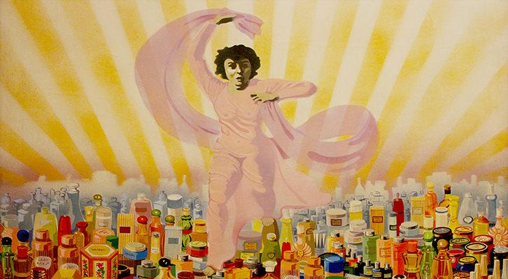 Isabel Oliver. Cosmética (serie La mujer), 1970 - 73. Acrílico sobre tela, 98 x 98 cm. Fotografía de Lucía Cajo Ferrando.