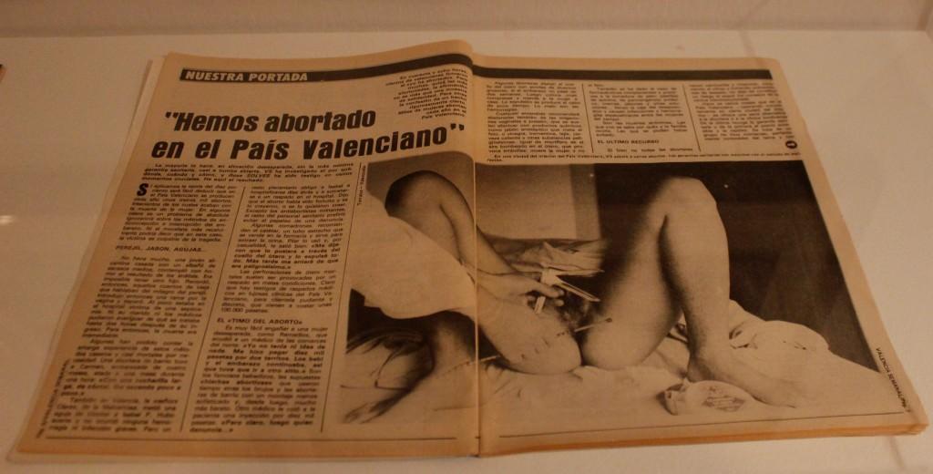 """Ana Torralva y Javier Valenzuela. """"Hemos abortado en el País Valenciano"""". Valencia Semanal, núm. 94, 4 - 11 de noviembre, 1979, pp.6 - 9. Fotografía de Lucía Cajo Ferrando."""
