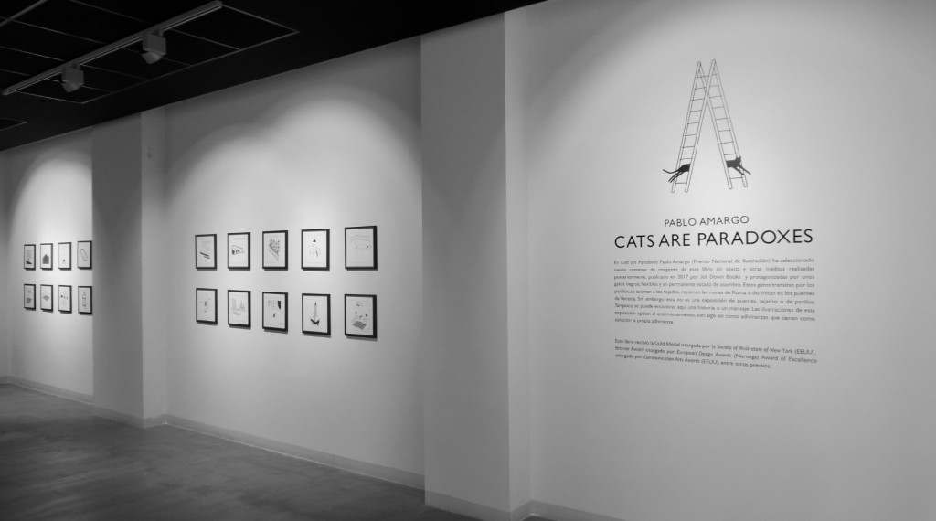 Vista de la exposición 'Cats are paradoxes', de Pablo Amargo en Pepita Lumier. Foto: Javier Martínez.