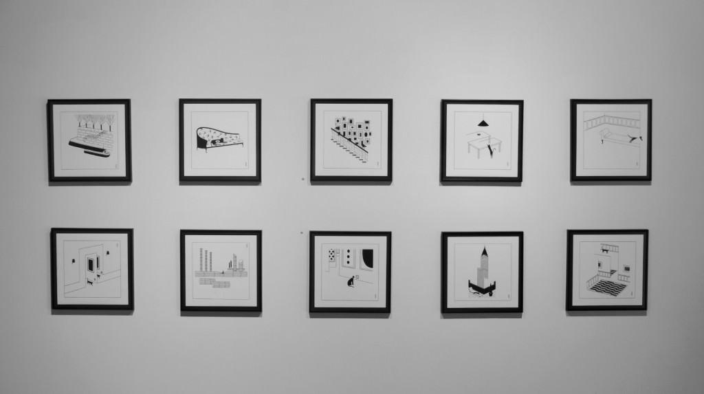 Obras de Pablo Amargo de la exposición 'Cats are paradoxes', en la galería Pepita Lumier. Foto: Javier Martínez.